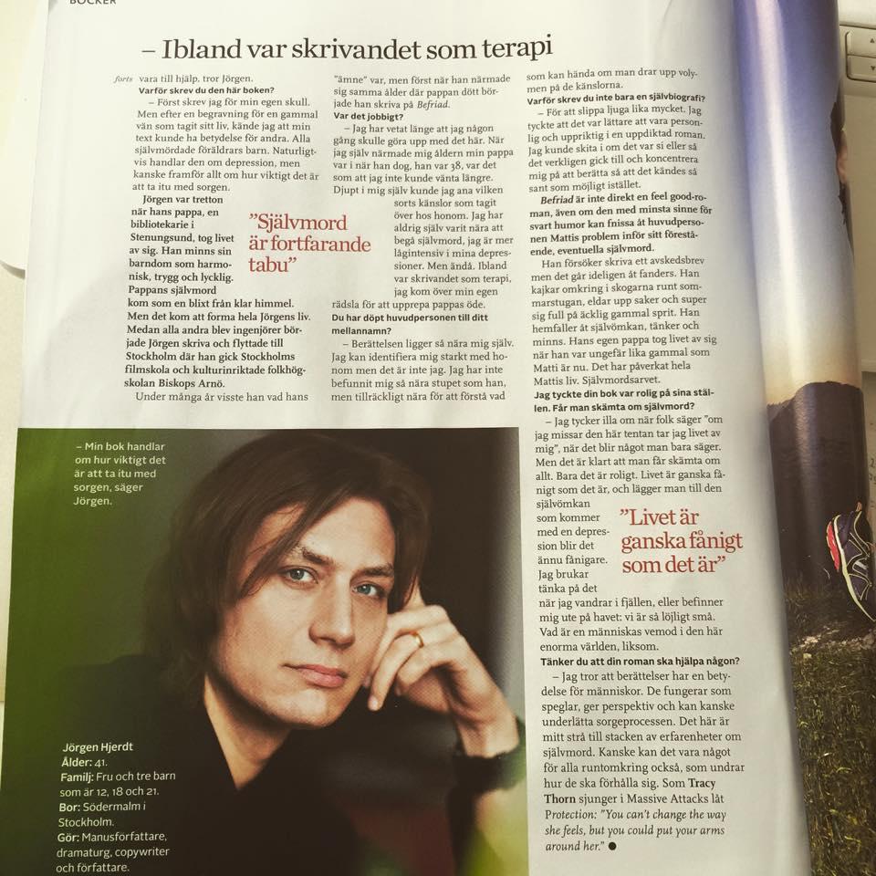 Jörgen Hjerdt intervju av Rebecka Åhlund i Amelia