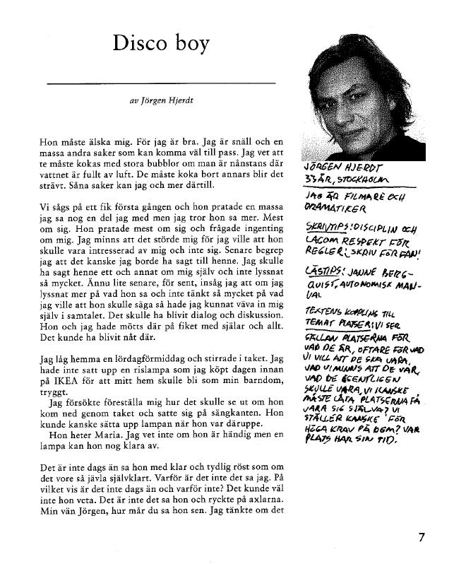 Jörgen Hjerdt novell 1